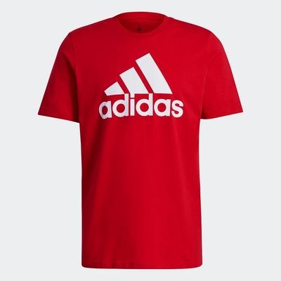 ADIDAS 上衣 短袖上衣 運動 慢跑 男款 紅 GK9124 ESSENTIALS BIG LOGO TEE