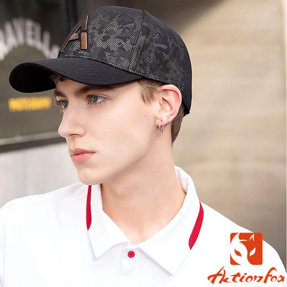 挪威 ACTIONFOX 新款 時尚休閒印花棒球帽_夾花卡其