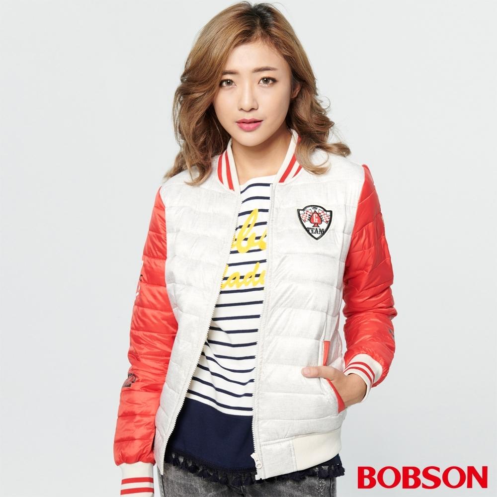 BOBSON 女款棒球絲棉外套