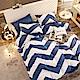 Grace Life 簡約洋流 單人法蘭絨被套床包三件組 product thumbnail 1