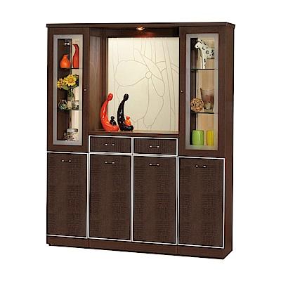 綠活居 米柏亞5.3尺屏風雙面櫃/玄關櫃(二色)-157.5x39x195cm-免組