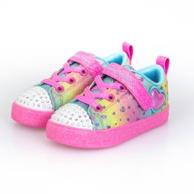 SKECHERS 女嬰童系列 SHUFFLE LITE 燈鞋-314909NMLT