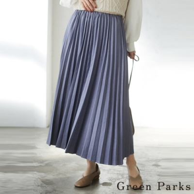 Green Parks 磨砂啞光百褶長裙