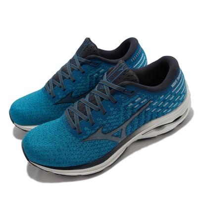 Mizuno 慢跑鞋 Wave Inspire 17 SW 男鞋 美津濃 超寬楦 輕量 包覆 柔軟 避震 藍 J1GC2122-30