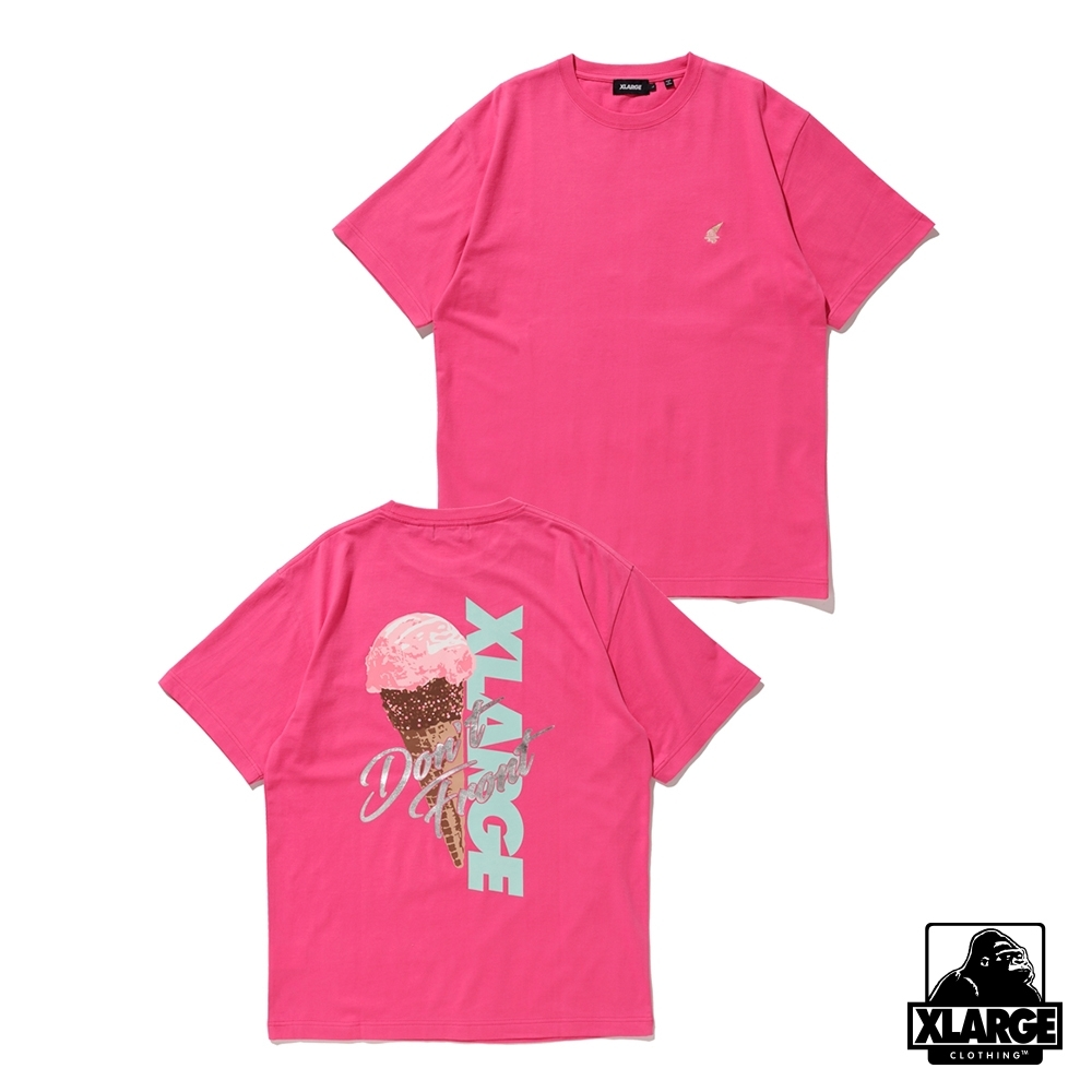 XLARGE S/S TEE ICECREAM OG短袖T恤-粉