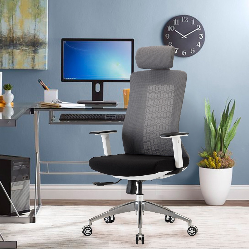 E-home Evolution高背半網人體工學電腦椅 灰色