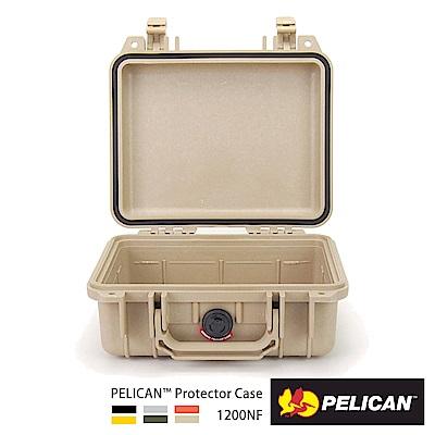 美國 PELICAN 1200NF 氣密箱-空箱(沙漠黃)