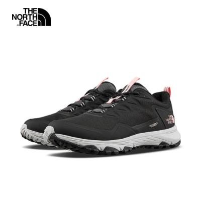 The North Face北面女款黑粉色防水透氣耐磨徒步鞋|52RAAJ0