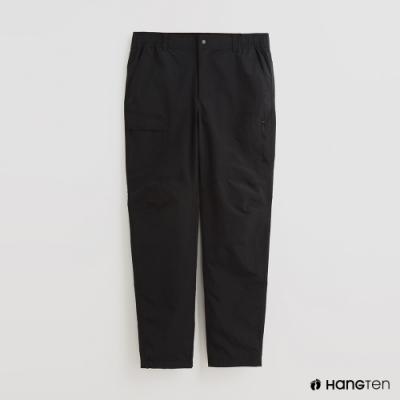 Hang Ten - 男裝 - 不對稱口袋造型休閒長褲 - 黑