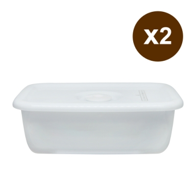 [買一送一]野田琺瑯 White Series系列長型密封盒(樹脂蓋.0.62L)