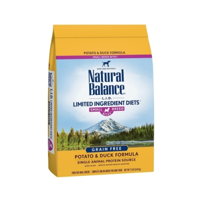 Natural Balance 低敏無穀馬鈴薯鴨肉成犬配方(原顆粒) 13LBS/5.90KG(購買第二件贈送寵鮮食零食*1包)