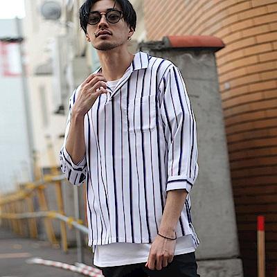 古巴7分袖套頭襯衫(12色) ZIP日本男裝