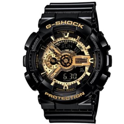 CASIO卡西歐 經典黑金配色G-SHOCK系列(GA-110GB-1A)
