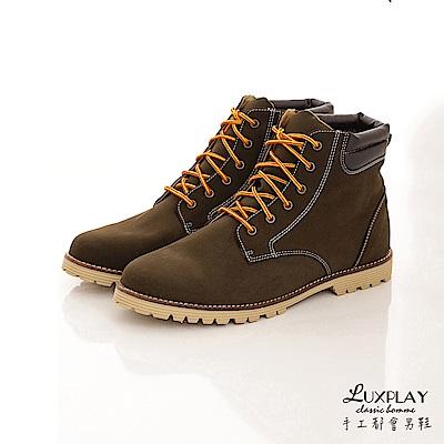 LUXPLAY  男款 經典羊巴戈輕手感黃靴 WK234綠