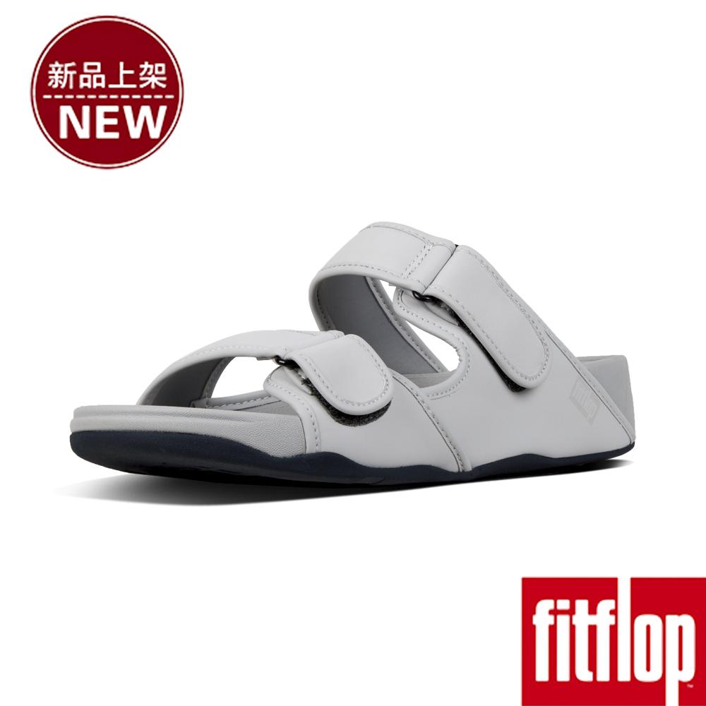 FitFlop GOGH MOC ADJUSTABLE SLIDES-淺灰色
