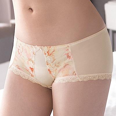 莎薇-花漾粉水M-LL 低腰平口內褲(輕甜橘)冰涼透氣-包臀