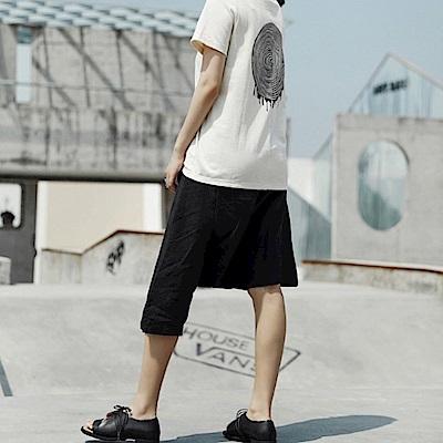 設計所在Style-新品暗黑風不規則長短哈倫五分褲