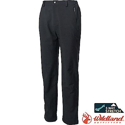 Wildland 荒野 0A62318-54黑色 男SOFTSHELL防風長褲
