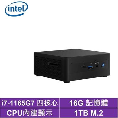 Intel NUC平台i7四核{金刀將帥II} 迷你電腦(i7-1165G7/1TB M.2 SSD)
