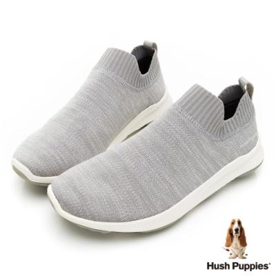 Hush Puppies Bounce Max 高效彈力休閒襪套男便鞋-淺灰