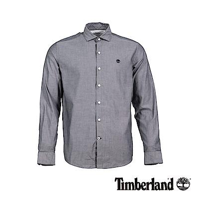 Timberland 男款淺灰長袖 LANE RIVER 修身版牛津襯衫