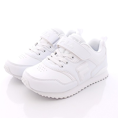 FILA頂級童鞋款 私校純白慢跑款 EI10Q-111白(中童段)0
