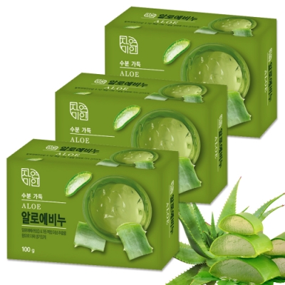 韓國 MKH無窮花 蘆薈保濕美肌香皂 <b>3</b>入