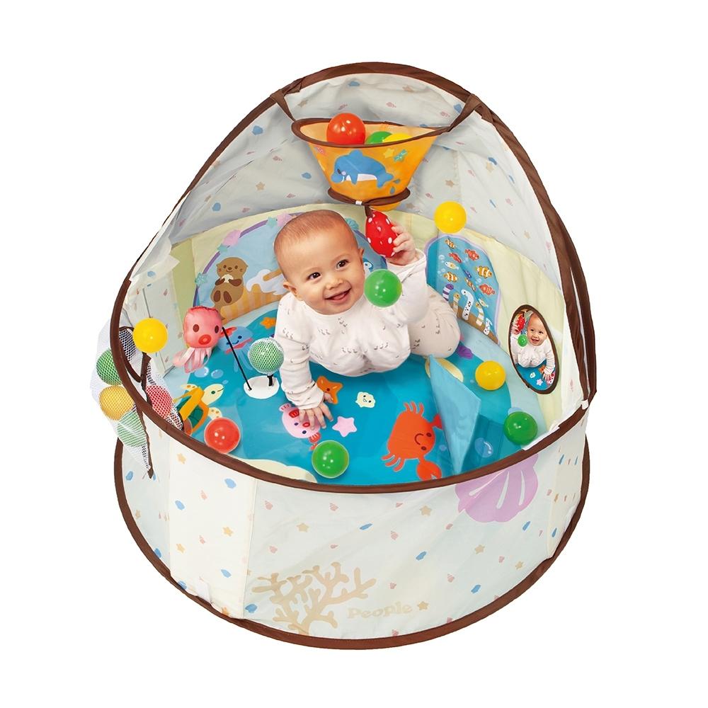 日本People-360度趣味遊戲池(附小球)(6m+)(新生兒/球池/可收納)
