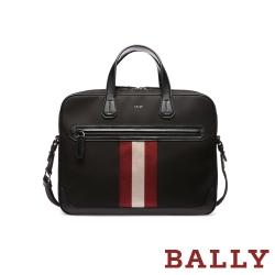BALLY 帆布商務手提斜背公事包 -黑