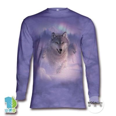 摩達客 美國進口The Mountain 歐若拉之狼 純棉長袖T恤