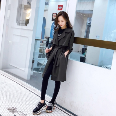 帥氣有型韓版時尚潮流風衣外套XL-4XL(共三色)KVOLL
