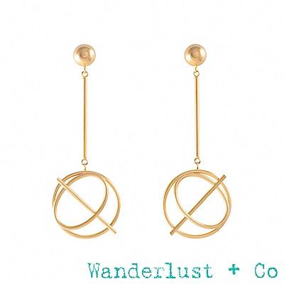 Wanderlust+Co Infusion系列 金色垂墜耳環