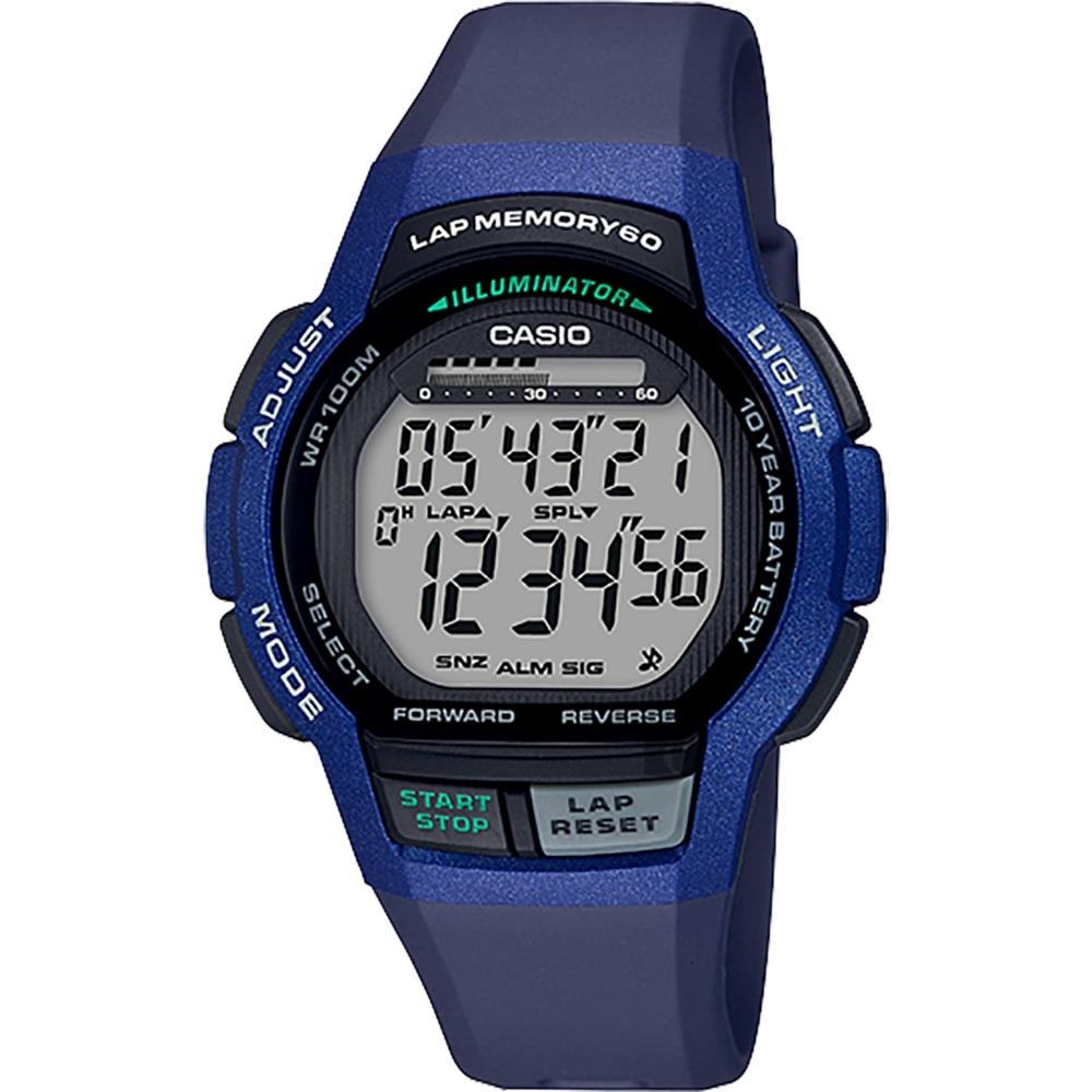 CASIO 卡西歐 運動慢跑手錶-藍(WS-1000H-2A)