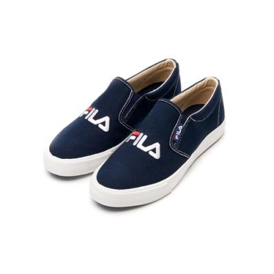 FILA 女 休閒 帆布鞋-丈青 5-C116V-331