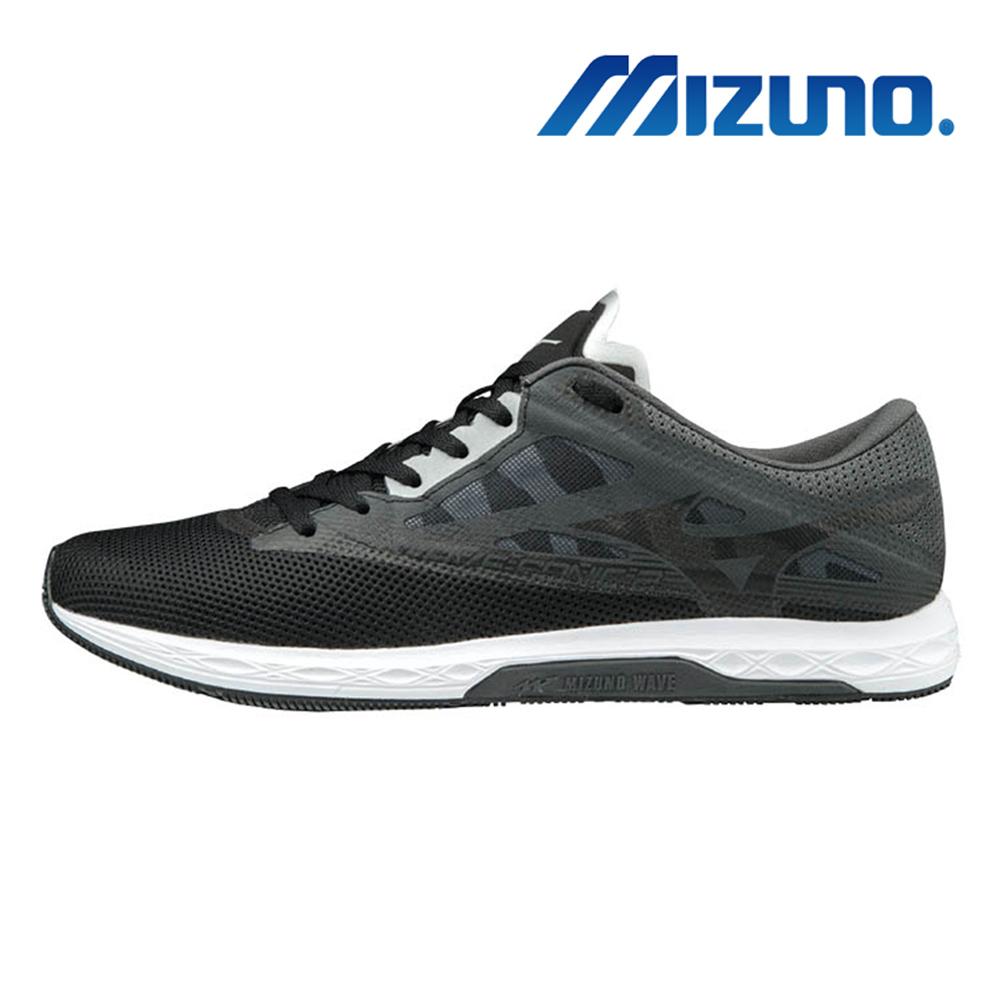 美津濃 WAVE SONIC 2 男馬拉松鞋 灰黑 U1GD193409