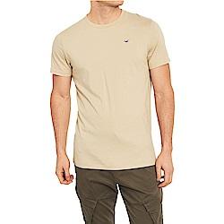 海鷗 Hollister HCO 經典刺繡標誌圓領素面短袖T恤-卡其色
