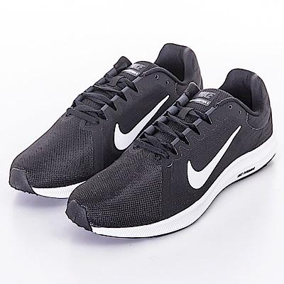 NIKE DOWNSHIFTER 8 男慢跑鞋 908984001 黑白