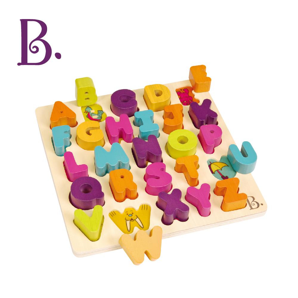 美國【B.Toys】逗樂厚片積塊