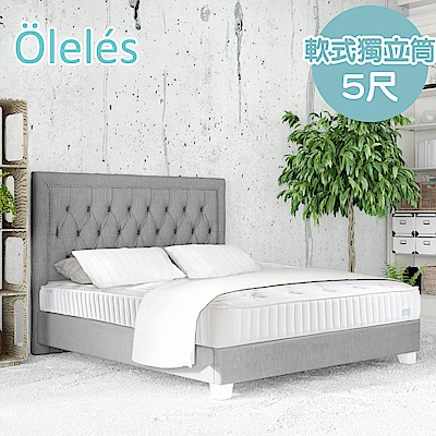 Oleles 歐萊絲 軟式獨立筒 彈簧床墊-雙人5尺