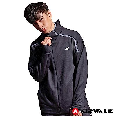 【AIRWALK】男款連帽中厚外套-黑色