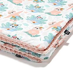 La Millou 暖膚豆豆毯嬰兒毯寶寶毯-瑜珈珈樹懶(粉嫩氣質膚)