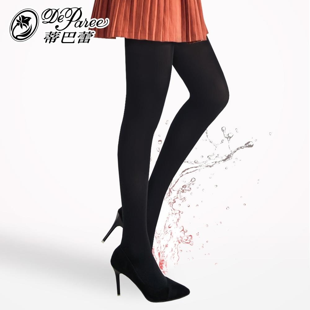 蒂巴蕾 膠原美膚保濕保暖天鵝絨褲襪-150D 黑色
