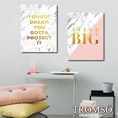 TROMSO 時尚無框畫/金采大理石