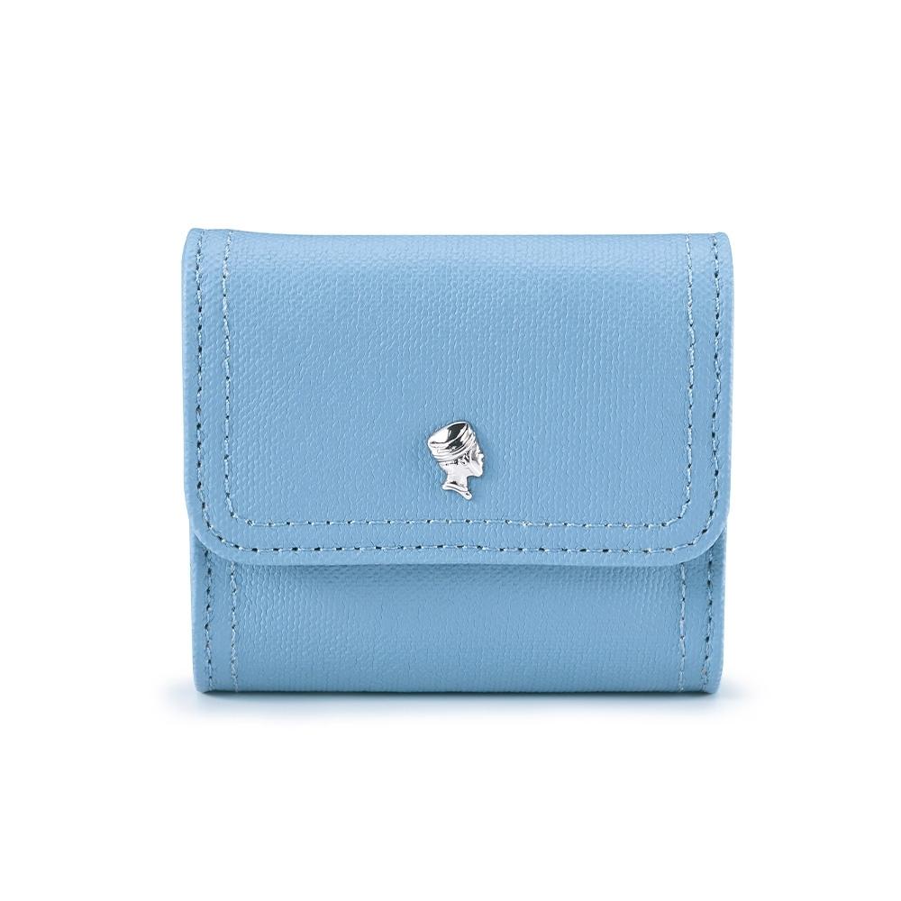 PORTER - 輕甜繽紛SPIRIT復古雙層零錢包 - 天影藍(銀)