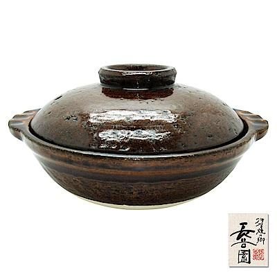 日本長谷園伊賀燒 個人小陶鍋19cm_咖啡