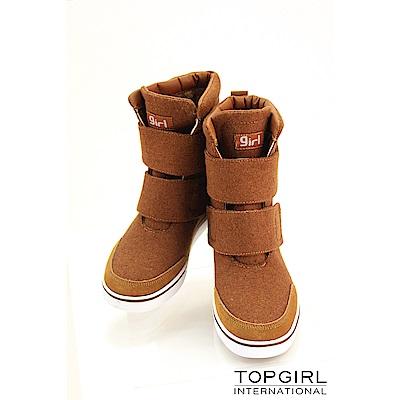 【TOPGIRL】帥氣女孩短靴-卡其