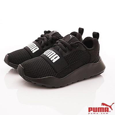 PUMA童鞋 WIRED PS運動款 TH66903-01黑(中小童段)