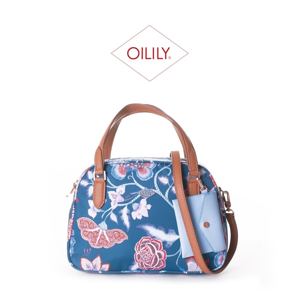 【Oilily】拉鍊式手提側背/斜背包_深藍_Royal Sits