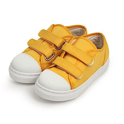 BuyGlasses 魔鬼氈帆布兒童休閒鞋-黃