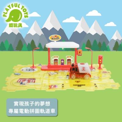 Playful Toys 頑玩具 電動拼圖軌道車(益智聲光玩具)